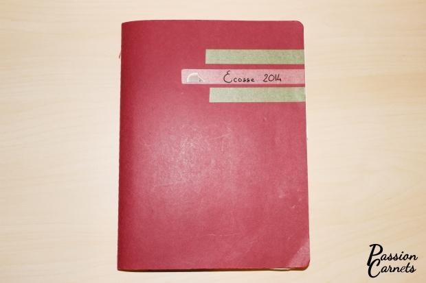 couverture du carnet de voyage moleskine
